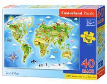 Castorland World Map 40 pcs 40 pezzo(i)