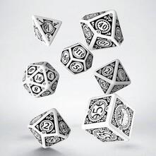 Set di Dadi Steampunk (Clockwork. Bianco, Nero)