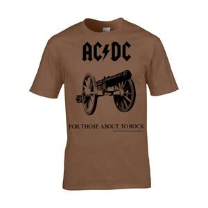 T-Shirt Unisex Ac/Dc. For Those About To Rock. Taglia XL