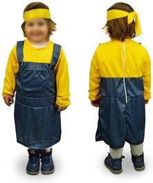 Costume carnevale aiutante Giallo Blu Bambina da 3 a 12 anni - 9/12 anni