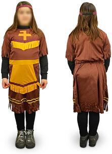 Costume di carnevale travestimento indiana da Bambina da 3 a 12 anni - 9/12 anni