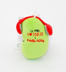 Idee regalo Portachiavi fagiolo in peluche La Pina I Love Toyko. Linea Hello Kitty Sanrio 1