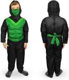 Costume carnevale travestimento Ninja da Bambino da 3 a 12 anni - 6/8 anni
