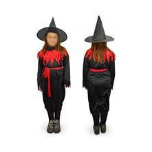 Costume di carnevale travestimento strega da Bambina da 3 a 12 anni - 6/8 anni