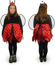 Costume di carnevale travestimento Coccinella da Bambina da 3 a 12 anni - 6/8 anni