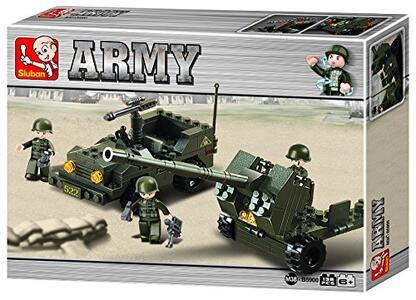Sluban M38-B5900. Esercito. Jeep Con Cannone 138 Pz
