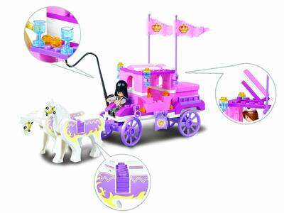 Sluban M38-B0250. Girl's Dream. La Carrozza Della Regina 137 Pz - 12