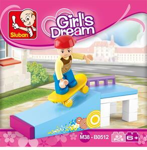 Sluban M38-B0512. New Girls Dream. Divertimento Sullo Skateboard (23Pcs) - 2