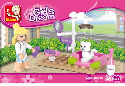 Sluban M38-B0515. New Girls Dream. La Tolettatura Del Gattino (30Pcs)