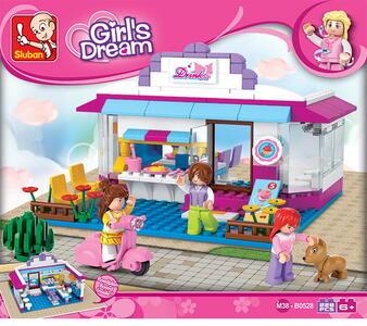 Sluban M38-B0528. New Girls Dream. Caffetteria (226Pcs)