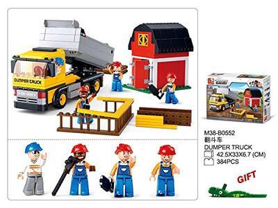 Sluban M38-B0552. Constructor. Camion Lavoro Cantiere 384 Pz - 4