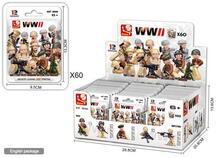Display 60 Bustine. Sluban M38-B0580. Minifigures Seconda Guerra Mondiale