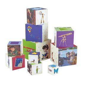Giocattolo Cubi in legno 10 pezzi Hape 2