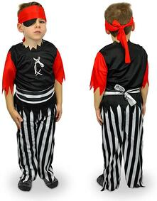 Costume carnevale travestimento Pirata Bambino da 3 a 12 anni - 3/5 anni