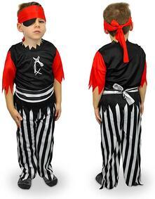Costume carnevale travestimento Pirata Bambino da 3 a 12 anni - 6/8 anni