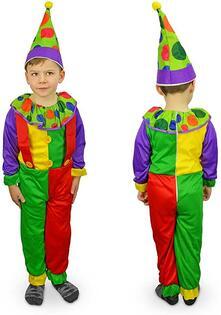 Costume carnevale travestimento Clown Bambino Bambina da 3 a 12 anni - 9/12 anni