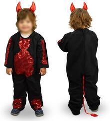 Costume di carnevale travestimento diavoletto da Bambina da 3 a 11 anni - 6/8 anni