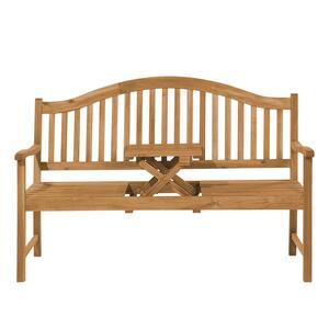Panchine Da Giardino In Legno : Panchina da giardino posti in legno con tavolino hilo beliani