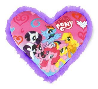 My Little Pony. Cuscino A Cuore In Peluche 33X33 Cm