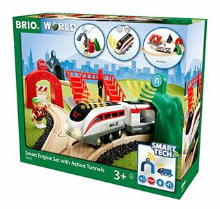 Brio Smart Tech Set Locomotiva Intelligente Con Tunnel
