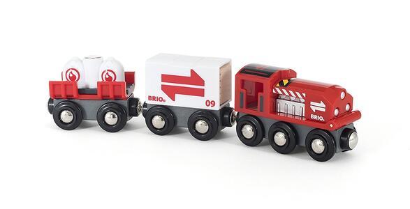 Brio Treno Merci Rosso - 9