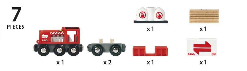 Brio Treno Merci Rosso - 10