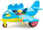 VIKINGTOYS Jumbo Plane with 1 Figure Gioco Playset Prima Infanzia Giocattolo 949, Multicolore, 7317677812700