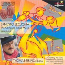 Musica per Pianoforte vol.5 - CD Audio di Ernesto Lecuona