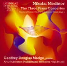 3 Concerti per pianoforte - 3 Sonate per pianoforte - CD Audio di Nikolaj Karlovic Medtner