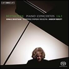 Concerti per Pianoforte No. 1 & 3 - SuperAudio CD di Ludwig van Beethoven,Andrew Parrott,Ronald Brautigam,Norrköping Symphony Orchestra