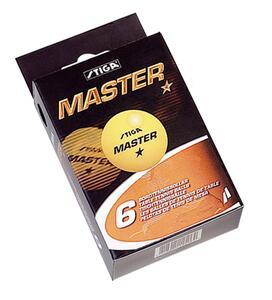 Confezione di 6 palline ping pong Master arancio (1 stella) - 2