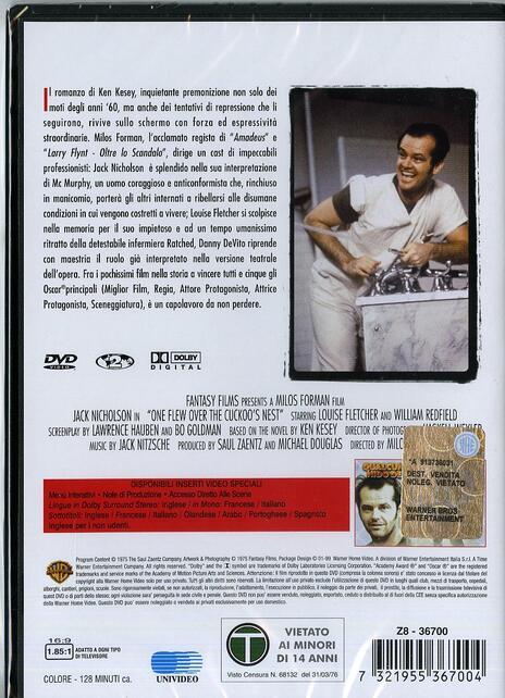 Qualcuno volò sul nido del cuculo di Milos Forman - DVD - 2