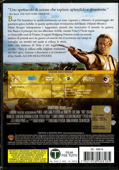 Troy di Wolfgang Petersen - DVD - 2
