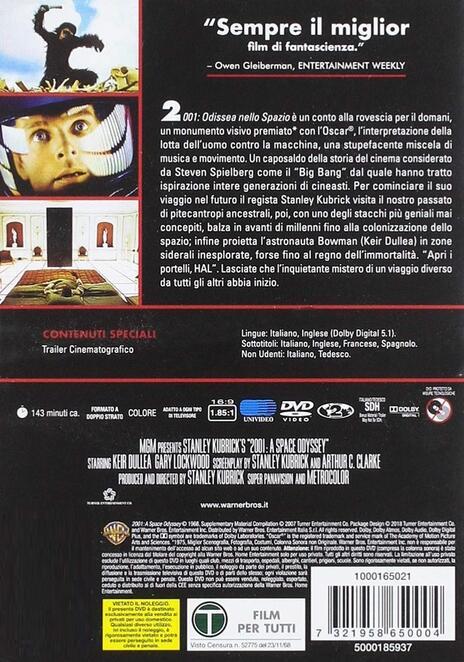 2001: odissea nello Spazio di Stanley Kubrick - DVD - 6