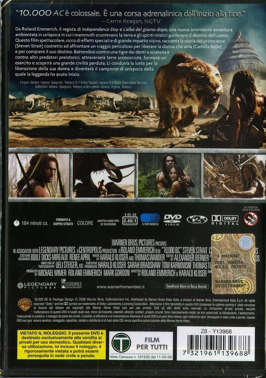 10.000 AC (1 DVD) di Roland Emmerich - DVD - 2