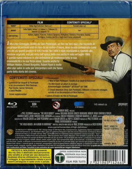 Il mucchio selvaggio di Sam Peckinpah - Blu-ray - 2