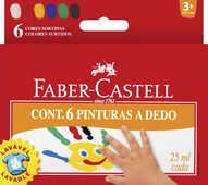 Cartoleria Astuccio con 6 flaconi colori a dita 25 ml Faber-Castell