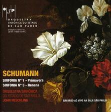 Sinfonie n.1, n.3 - CD Audio di Robert Schumann
