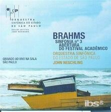 Sinfonia n.3 - Ouverture Accademica - CD Audio di Johannes Brahms