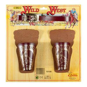 Cinturone Con 2 Fondine. Wild West