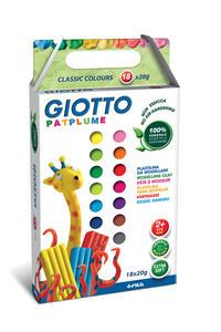 Pasta da modellare Giotto Patplume. Scatola 10 panetti da 20 g. Colori classici + fluo assortiti - 2