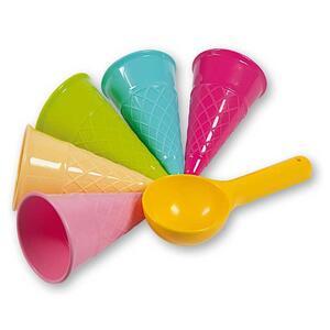 Ice Cream Beach Set. Busta 5 Coni Gelato + Paletta