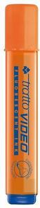 Evidenziatore Tratto Video arancione punta 1- 5 mm. Confezione 12 pezzi