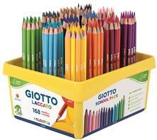 Pastelli Giotto Laccato, 24 colori Confezione shoolpack 168 pezzi