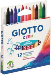 Pastelli a cerca Giotto Cera. Scatola 12 colori assortiti