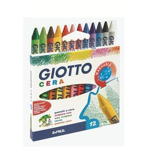 Pastelli a cerca Giotto Cera. Scatola 12 colori assortiti - 5