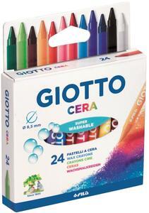Pastelli a cerca Giotto Cera. Scatola 24 colori assortiti