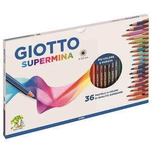 Pastelli Giotto Supermina. Scatola 36 matite colorate assortite - 4