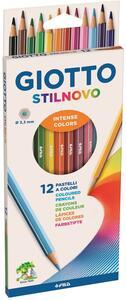 Pastelli Giotto Stilnovo. Scatola 12 matite colorate assortite