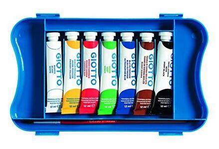 Tempera Giotto Extra in tubetto 12 ml. Scatola 7 colori assortiti - 3